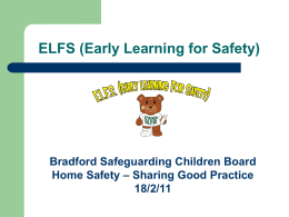 Early Learning for Safety - Bradford Safeguarding Children Board