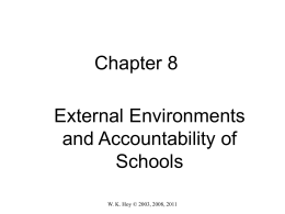 External Environments and Accountability of Schools