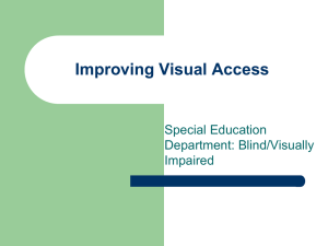 Improving Visual Access PowerPoint