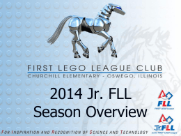 2014 Jr. FLL Coaches` Season Overview