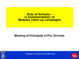Measles Catch-up Campaigns