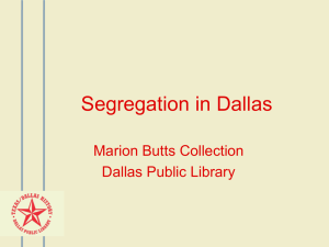Marion Butts - Dallas Public Library