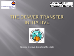 The Denver Transfer Initiative