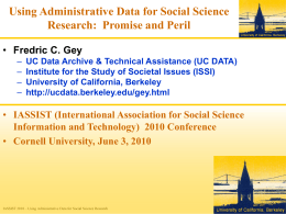 Iassist-2010-gey-Using-Administrative-Data-for-Social
