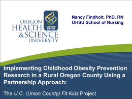 Implementing Childhood Obesity Prevention Research in a Rural