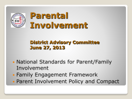 Parent Involvement 06.27.13