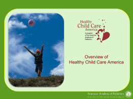 HCCA/CCHP - Healthy Child Care America