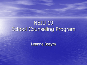 School Counseling Program Overview with Notes