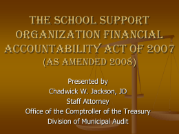 SSO Financial Accountability Act