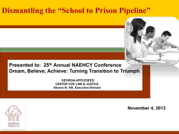 School to Prison Pipeline - The National Association for the