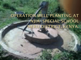 operation well planting at njia special school