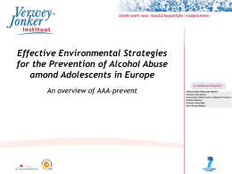 Presentation EU October 19th - Alcohol Abuse among Adolescents
