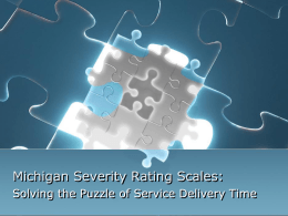 Michigan Severity Rating Scales Solving the Puzzle Missouri AER