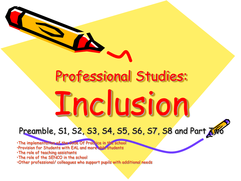 Spring Professional Studies - Inclusion Powerpoint