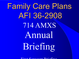 Fam Care Annual Briefing