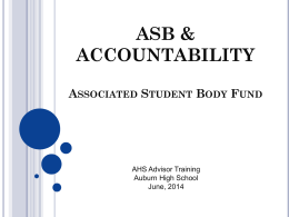 ASB Presentation to Advisors
