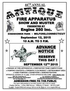 2015 advance flyer - Engine 260 Antique Fire Apparatus Show and