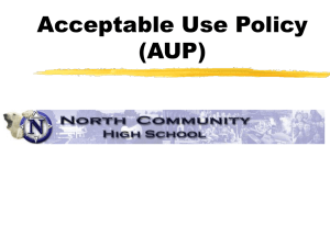 Acceptable Use Policy PowerPoint Presentation
