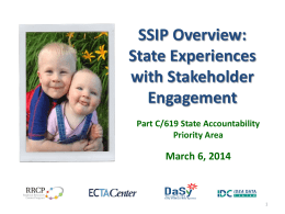 Part 2: State Experiences & SSIP Phase I Tools and Resources