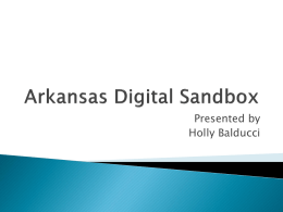 Arkansas Digital Sandbox