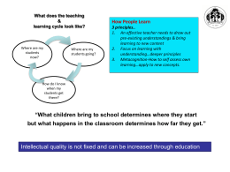 What does the teaching & learning cycle look like?