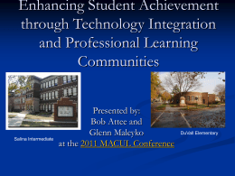 to view the MACUL conference presentation on March 18th at 8