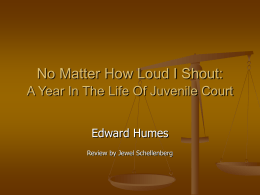 No matter how loud I shout: A year in the life of juvenile court.
