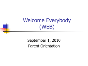 Welcome Everybody (WEB) - Carmenita Middle School