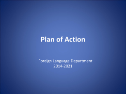 Foreign Language Plan of Action