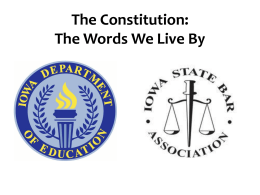 Constitution Day PowerPoint - The Iowa State Bar Association