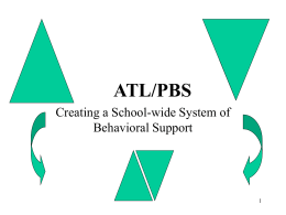 ATL/PBIS - Student Services