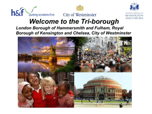 Induction welcome event PPT - London Borough of Hammersmith