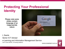 Protecting your professional identity SCC1