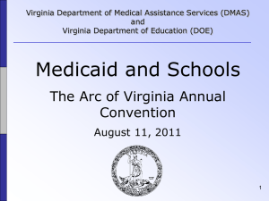 Medicaid and Schools Annual Training