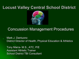 Concussion Information - Bayville Locust Valley Little League