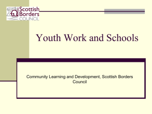 Youth Work and Schools - Community Learning and Development