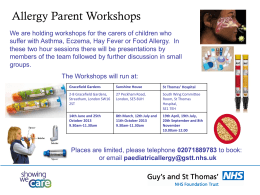 Allergy Parent Workshops