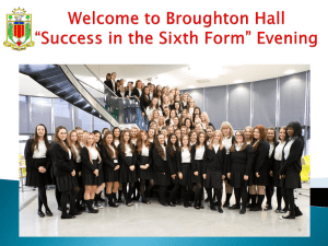 Broughton Hall Sixth Form Taster Day