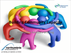 Building Community Capacity - e