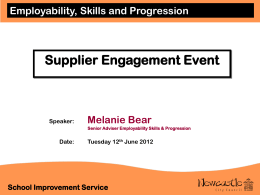Supplier engagment event presention