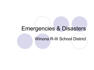 Emergencies & Disasters - Winona R-III