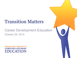 ESE Presentation - Career Development Education