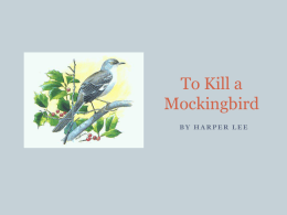 To Kill a Mockingbird_Literary Terms_Week4 and 5Notes