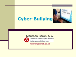 Cyber-Bullying - English Montreal School Board