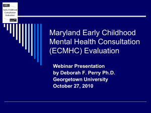(ECMHC) Evaluation - National Technical Assistance Center for
