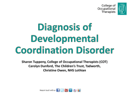 Sharon Tuppeny, College of Occupational Therapists (COT)