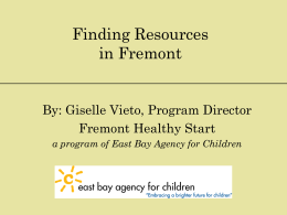 Finding Resources in Fremont - Fremont Adult and Continuing