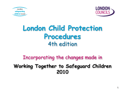 - London Safeguarding Children Board