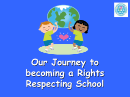 Our Journey to become a Rights Respecting School