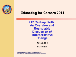 ED F C Roundtable and CTE 2014